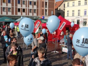 Demokratiefest am 3. September 2015 in Stralsund